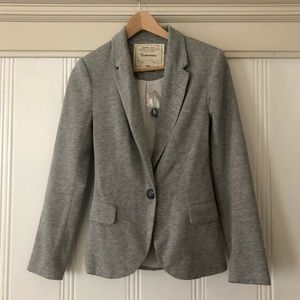 Anthropologie Gray jersey blazer
